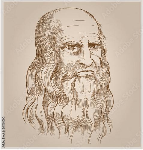 hand drawn vector portrait