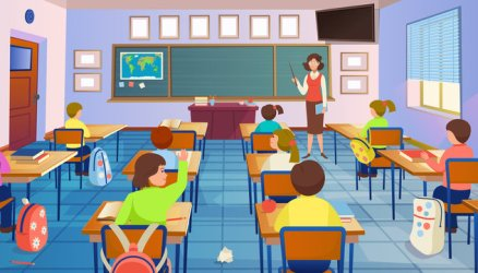 Classroom Cartoon photos royalty free images graphics vectors & videos Adobe Stock