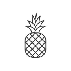 Pineapple Outline stock photos and royalty free images vectors and illustrations Adobe Stock