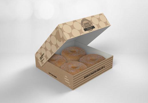 Free flat rectangular box mockup. 35 Best Donut Photoshop Indesign Illustrator Templates Adobe Stock