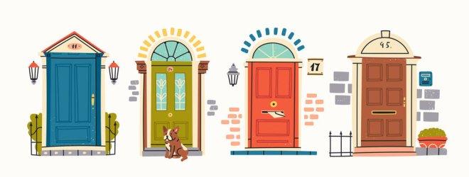 House Hallway Cartoon Background