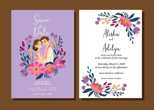 indian wedding couple vector images