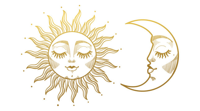 In a fantasy style, you can pretty much do whatever you want but here is a suggestion. 301 466 Best Sun Moon Images Stock Photos Vectors Adobe Stock
