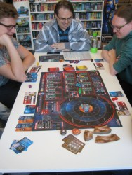 Ben von Portal Games beim erklären.
