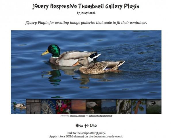 jQuery Slideshow Responsive Webdesign ResponsiveThumbnailGallery