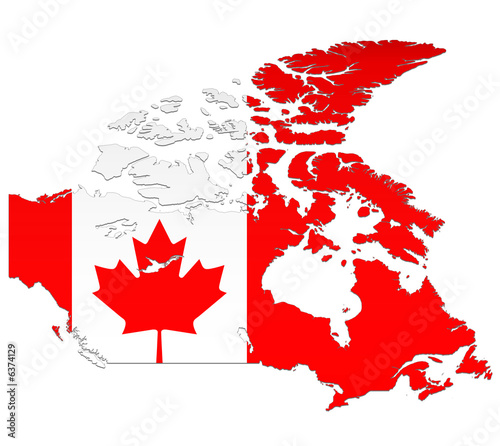 Drapeau Du Canada Carte Stock Photo And Royalty Free