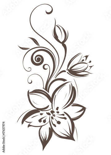 quotVector stylized flowerquot Stockfotos und lizenzfreie
