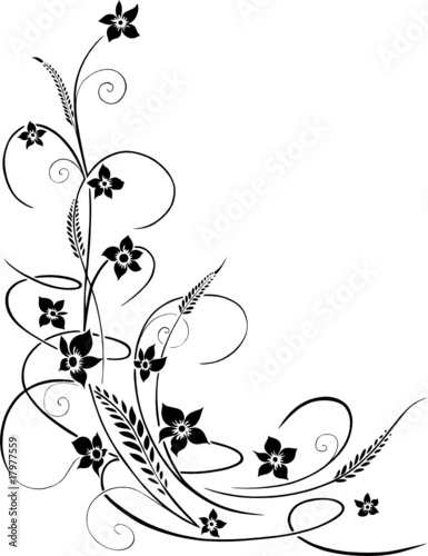 """floral design element flowers Blumen Blüten Ranke"