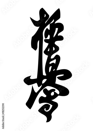 Karate Kyokushinkai Martial Arts Sports Stock Vector