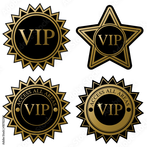 vip badges stock image
