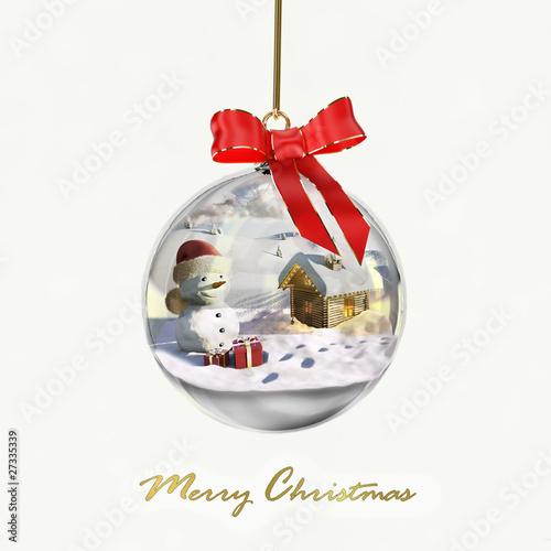 Palla di vetro con paesaggio natalizio Immagini e Fotografie Royalty Free su Fotoliacom