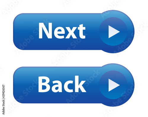 quotNEXT and BACK Web Buttons continue confirm submit click