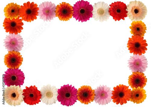 Bunter Blumen Rahmen Stockfotos und lizenzfreie Bilder