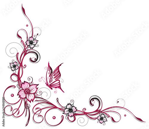 Ranke flora Blumen Blten Kirschblten Stockfotos und lizenzfreie Vektoren auf Fotoliacom