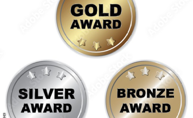 Gold Silver Bronze Award Icon Stock Image And Royalty