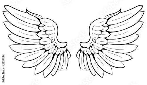 """""""pair of wings"""" Stockfotos und lizenzfreie Vektoren auf"""