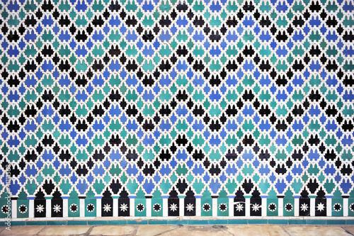 Mosaico de azulejos rabes alicatado Fotos de archivo e