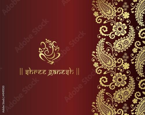 Ganesh Traditional Hindu Wedding Card Design India