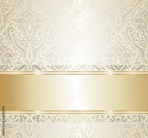 Wedding Card Wallpaper Hd Quot Gold Amp Silver Vintage Wallpaper Quot Stock Image And Royalty