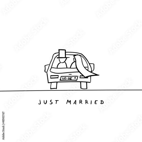 Hochzeitsauto Just Married Zum Ausdrucken  Hochzeit