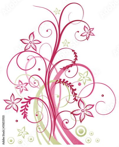 Sommer frame Blumen Ranke pink rosa Stockfotos und