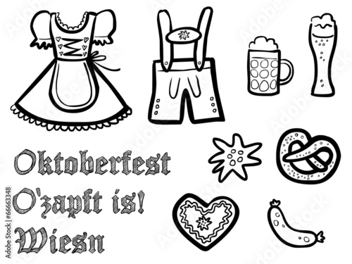 Oktoberfest Malvorlage Gratis