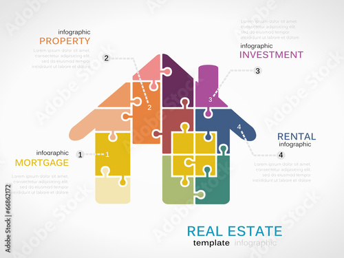 real estate infographics stock