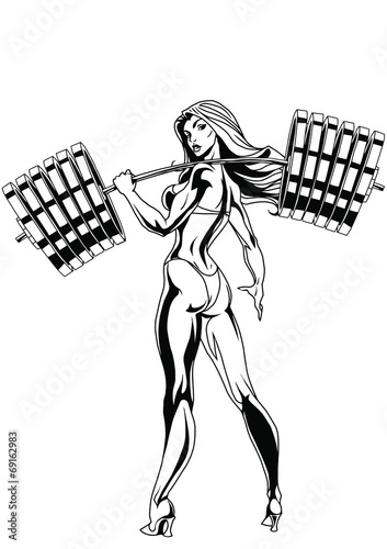 Heavy Barbell Stock Vector Image Of Illustration Strong