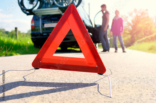 Car Trouble - family is waiting for road assistance