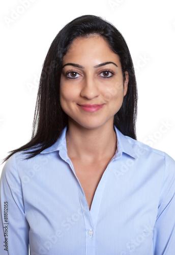 Bewerbungsfoto einer lachenden trkischen Geschftsfrau Stockfotos und lizenzfreie Bilder auf