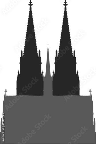 """""""Silhouette Icon Piktogramm Kölner Dom in Köln"""