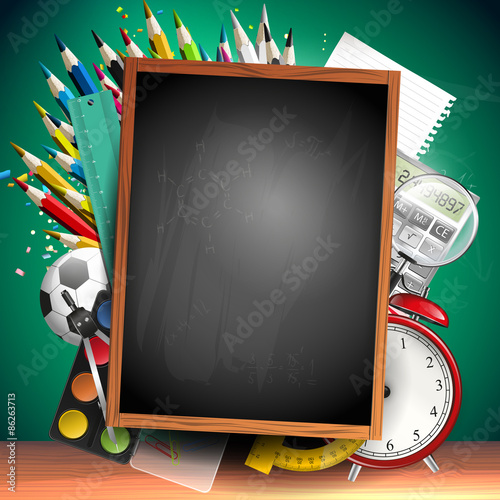 School background Stock image and royaltyfree vector