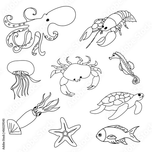 Ocean Diorama Pages Coloring Pages
