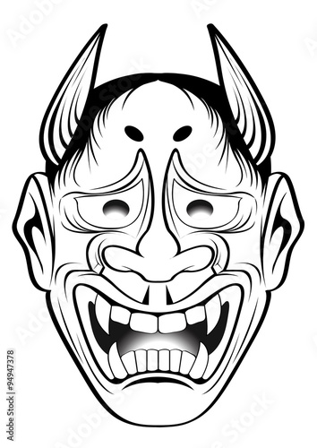 Hannya Mask Tattoo Coloring Pages