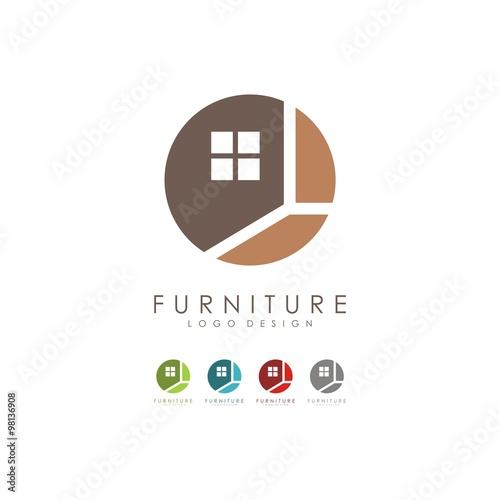 Furniture Logo Design Vector
