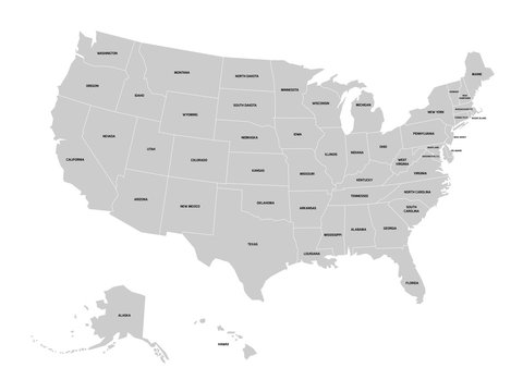 Buzzfeed staff out of the 26 states, i only want you to name 19! 5 202 Best Us Map With State Names Images Stock Photos Vectors Adobe Stock