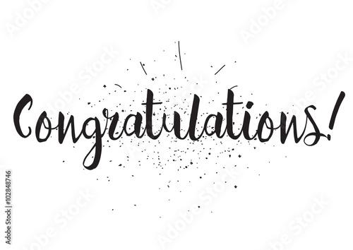 """congratulations inscription. greeting"