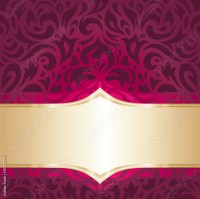 Gold And Red Wallpaper Designs - HD Wallpapers Blog