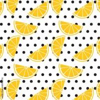 """""""Lemon pattern on polka dot background. Wallpaper design ..."""