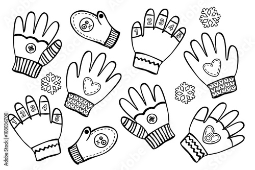 Handschuh Fäustling Malvorlage Coloring and Malvorlagan