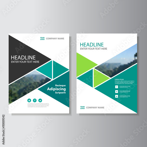 """""""Green Business Proposal Vector Leaflet Brochure Flyer"""