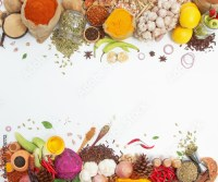"""""""Spices and herbs for cooking background and design,Top ..."""