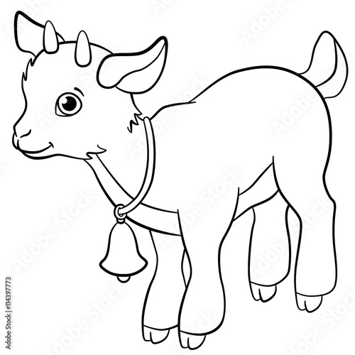 Free coloring pages of little goats