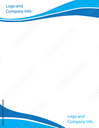 """""""Blue Swirl Wave Letterhead Template"""" Stock Image And"""