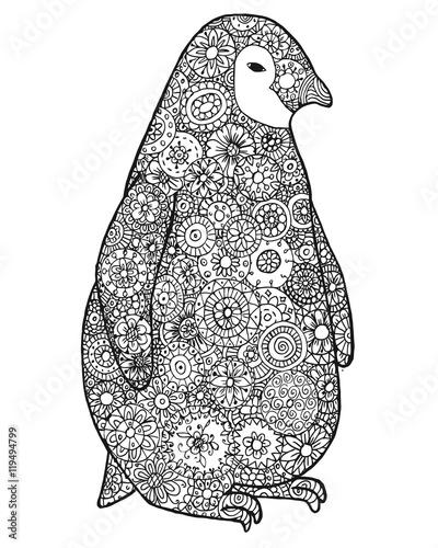 Zen Tangle And Zen Doodle Penguin Zentangle Animal