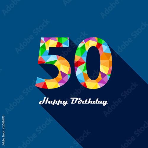 happy 50th birthday vector
