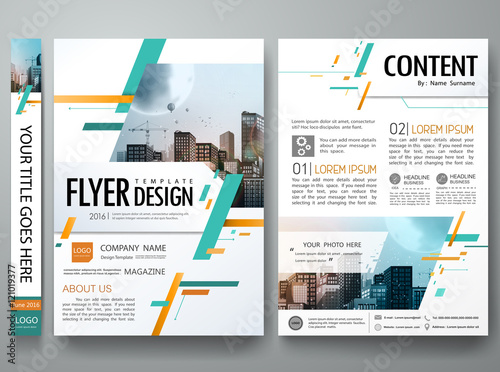 """""""Green Abstract Square Poster Portfolio Layout Design City"""