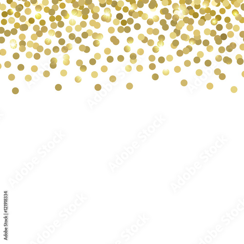 gold confetti vector background
