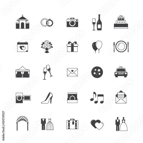 Wedding icon set Stockfotos und lizenzfreie Vektoren