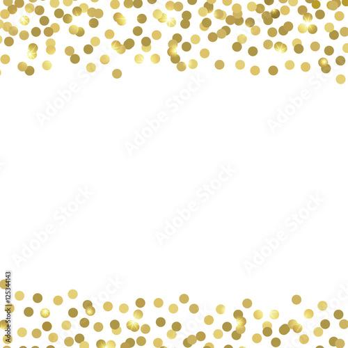 golden confetti vector background